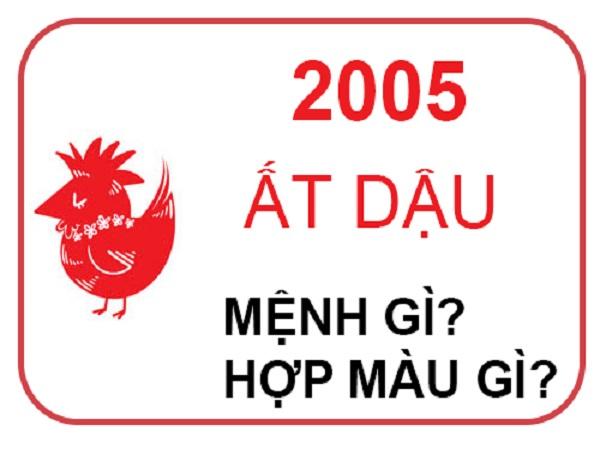 Sinh năm 2005 mệnh gì? Tuổi gì? Hợp màu nào?