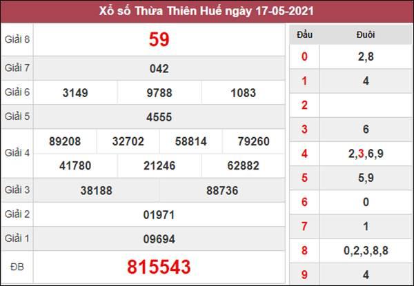 Dự đoán XSTTH 24/5/2021 chốt lô VIP Huế siêu chuẩn xác
