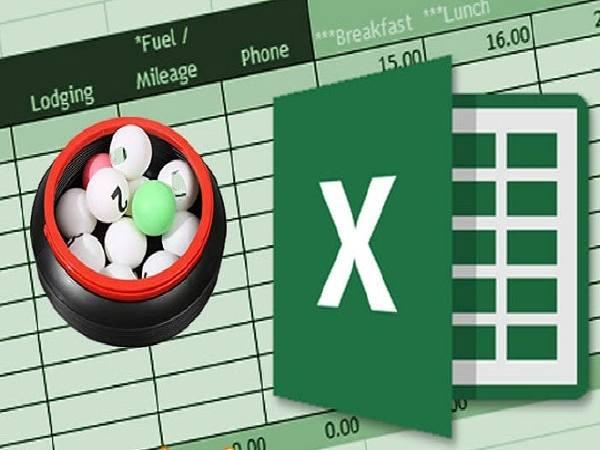 Phầm mềm tính lô để bẳng Excel