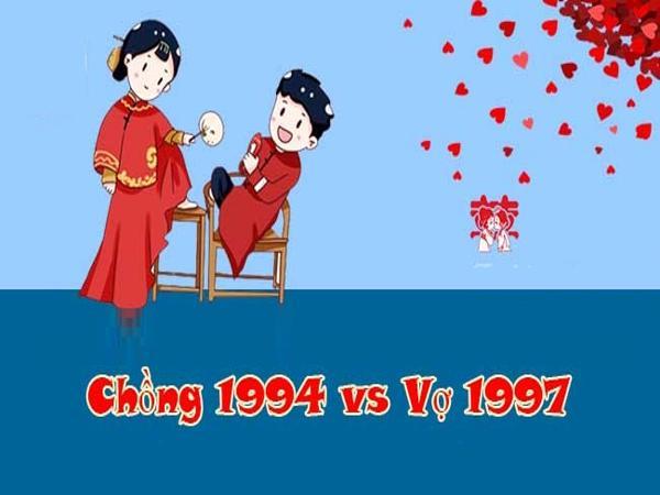 Chồng 1994 vợ 1997 có hợp nhau không? Nên cưới năm nào?